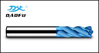 65°蓝色4刃平铣刀